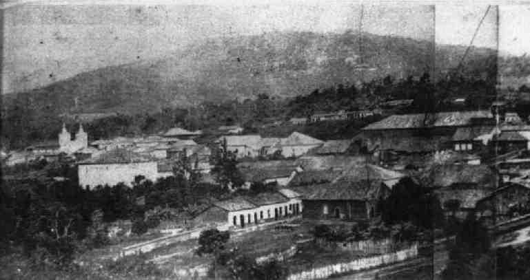 Vista parcial de Amparo por volta de 1870