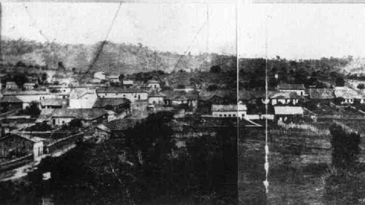 Vista parcial de Amparo, por volta de 1870